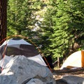 Camping options along the Bubbs Creek Trail in Kings Canyon National Park.- Bubbs Creek Trail