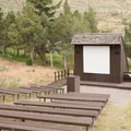 Nightly talks are given at the amphitheater.- Mammoth Campground