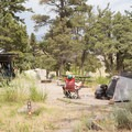 Relaxing at camp.- Mammoth Campground