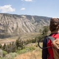 Mammoth Campground has a short trail that takes you up to the town of Mammoth Hot Springs.- Mammoth Campground