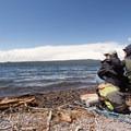 Enjoying the shores of Shoshone Lake.- Lewis Lake to Shoshone Lake Loop