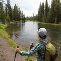 Hiking the Lewis River Channel.- Lewis Lake to Shoshone Lake Loop