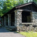 A picnic shelter.- Chittenango Falls State Park