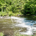The river at the top of the falls.- Chittenango Falls State Park