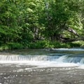 A river view from the trail.- Chittenango Falls State Park