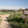 The hike starts at Indian Pond.- Storm Point