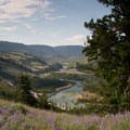 The Yellowstone River can be seen early on in the hike.- Specimen Ridge Trail