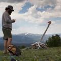 Taking a break on the ridge.- Specimen Ridge Trail