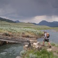 The bridge across Soda Butte Creek takes you to the Soda Butte/Lamar River Trailhead.- Specimen Ridge Trail