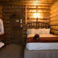 The rooms are simple and comfortable.- Old Faithful Inn