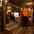 The lobby often hosts local artists.- Old Faithful Inn