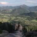 The view atop Deer Mountain overlooking most of Estes Park.- Deer Mountain
