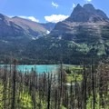 Saint Mary Lake from the trailhead.- Saint Mary Falls