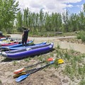 Gearing up at Fuller Bottom and getting ready to launch.- San Rafael River: The Little Grand Canyon