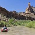 Sandstone spires.- San Rafael River: The Little Grand Canyon