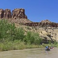 """Rows of """"teeth"""" on the Little Grand Canyon and the San Rafael River.- San Rafael River: The Little Grand Canyon"""