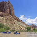 """Giant """"castles"""" on the Little Grand Canyon and the San Rafael River.- San Rafael River: The Little Grand Canyon"""