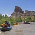 Buttes and mesas galore.- San Rafael River: The Little Grand Canyon