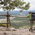 Lower Geyser Basin Overlook.- Firehole Meadows: Biscuit Basin to Freight Road