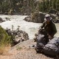 Hiking out and back to Knowles Falls adds 4 miles to the trip.- Black Canyon of the Yellowstone