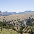 The view near the Hellroaring Trailhead.- Black Canyon of the Yellowstone