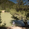 Checking out the nice beach at backcountry campsite 1Y4.- Black Canyon of the Yellowstone