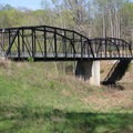 The Portersville Bridge completed its move to Rose Island in 2011.- Rose Island