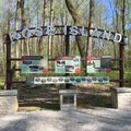 Today's Rose Island sign resembles the original welcome sign.- Rose Island