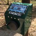 Interpretive audio boxes are powered by hand cranks.- Rose Island