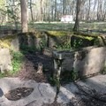 The remains of the pool concession stand where they rented bathing suits to visitors.- Rose Island