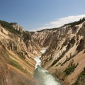 The Grand Canyon of the Yellowstone.- Brink of Lower Falls to Lower Lookout Point