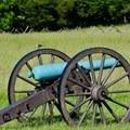 Bird sitting atop a cannon.- Manassas National Battlefield Park