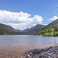 The peaks above Erickson Basin and Lake (10,415 ft). - Smith + Morehouse Reservoir