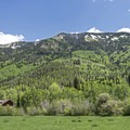Summer cabins line both sides of the canyon.- Weber Canyon Scenic Drive