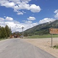Sign signals to turn right to head to Smith and Morehouse Reservoir.- Weber Canyon Scenic Drive