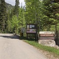 Heading into Ledgefork Campground.- Ledgefork Campground