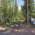 Parking lot for the Smith and Morehouse Trailhead.- Ledgefork Campground
