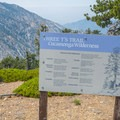 Cucamonga Wilderness informational signage.- Three T's Trail (Timber , Telegraph + Thunder Mountain)
