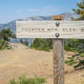 Thunder Mountain sign.- Three T's Trail (Timber , Telegraph + Thunder Mountain)