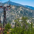 Ski lift from Thunder Mountain in the summer.- Three T's Trail (Timber , Telegraph + Thunder Mountain)