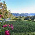 Rae Leigh Heights Bed and Breakfast view to Brentwood Bay.- Rae Leigh Heights Bed + Breakfast