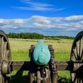 Cannon view of the battlefield.- Manassas National Battlefield Park