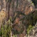 Uncle Tom's Trail from the Brink of Lower Falls.- Artist Point to Uncle Tom's Trail