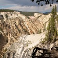 Looking down the Grand Canyon of the Yellowstone.- Artist Point to Uncle Tom's Trail