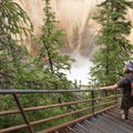 The steep stairs make for a fun hike.- Artist Point to Uncle Tom's Trail