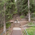 The upper section of Uncle Tom's Trail.- Artist Point to Uncle Tom's Trail