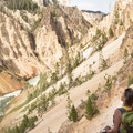 Looking down the canyon from the lookout point.- Artist Point to Uncle Tom's Trail