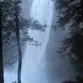 Side view of Vernal Fall.- Half Dome via Mist Trail