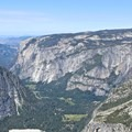 Views extending down the Yosemite Valley.- Half Dome via Mist Trail