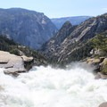 On top of Nevada Falls.- Half Dome via Mist Trail
